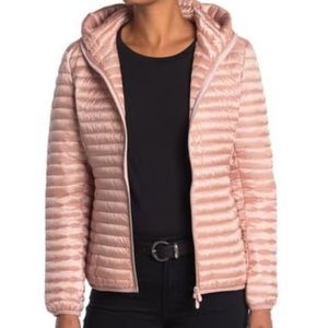 Save The Duck Pink Hooded Lightweight Puff Jacket